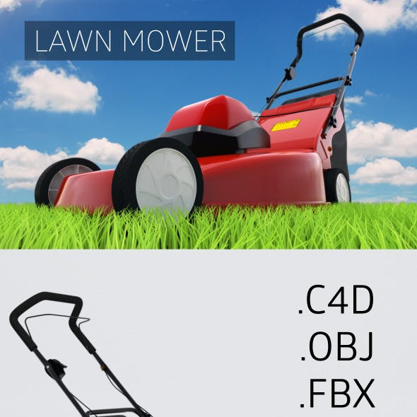 Hi-Poly Lawn Mower