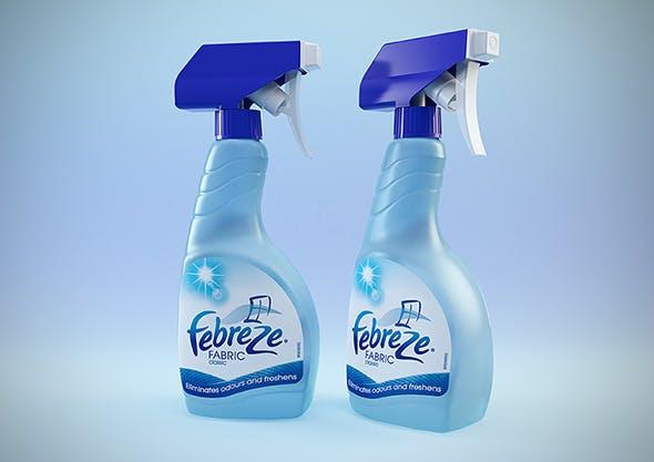 Febreze bottles - C4D & VRay