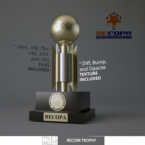 Recopa Sudamericana Trophy 3D Model
