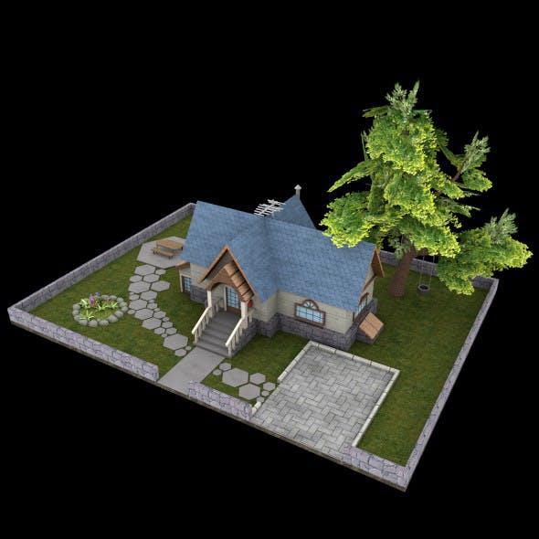 Garden House - 3DOcean Item for Sale
