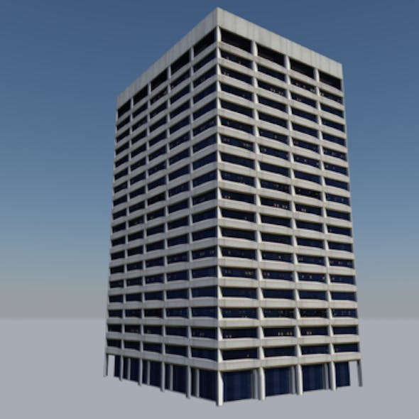 Low Poly Building - Portland Federal Courthouse