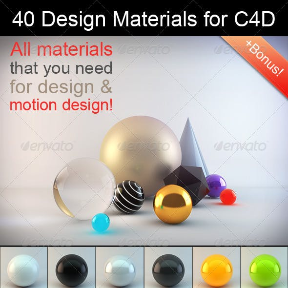 C4d 3D Materials & 3D Shaders from 3DOcean