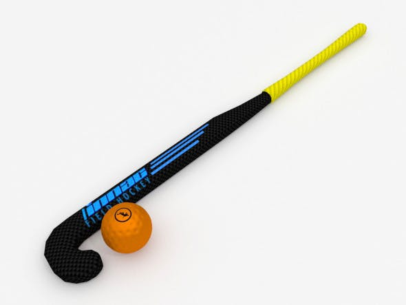 Hockey stick and ball - 3DOcean Item for Sale