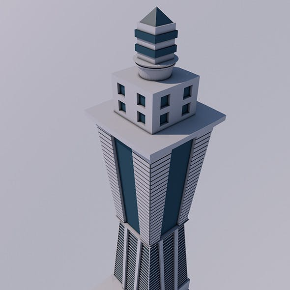 Low Poly Skyscraper (Ready to Render)