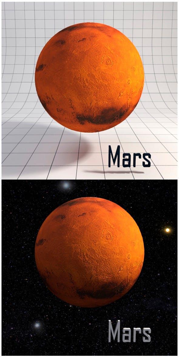 Mars - Realistic HD model - 3DOcean Item for Sale