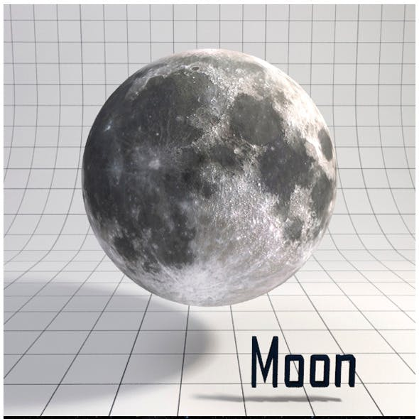 Moon - Realistic HD model