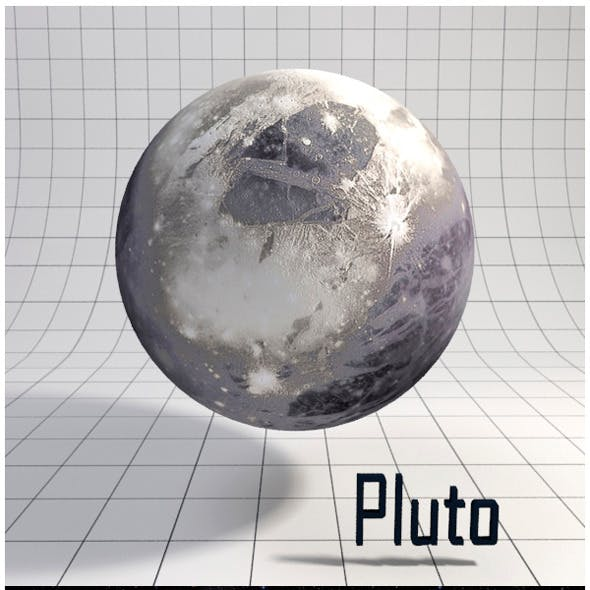 Pluto - Realistic HD model