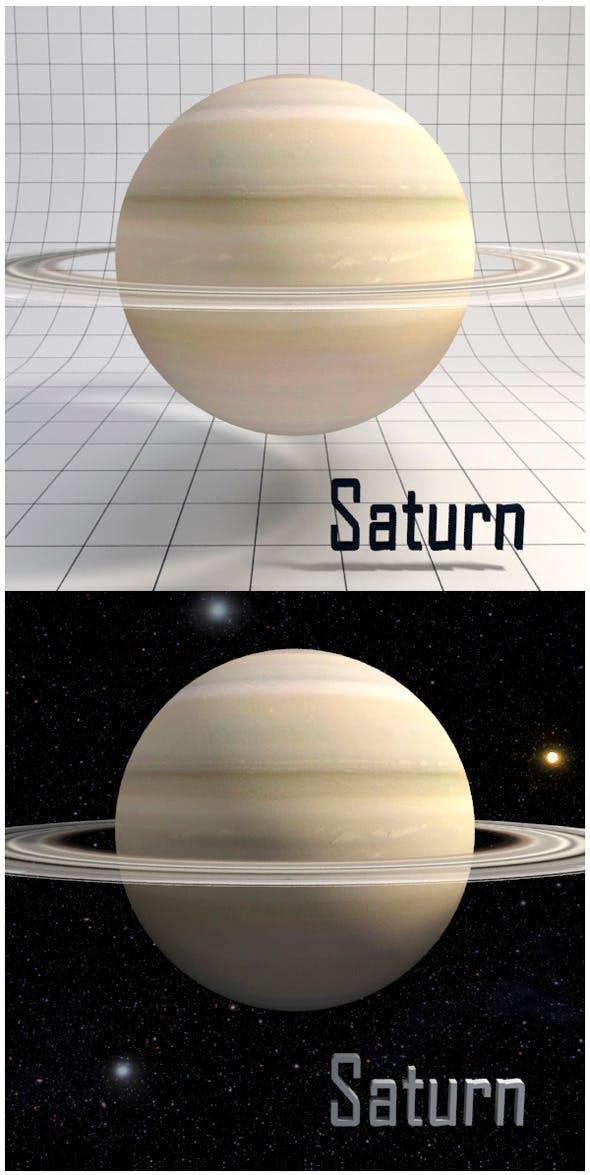 Saturn - Realistic HD model - 3DOcean Item for Sale