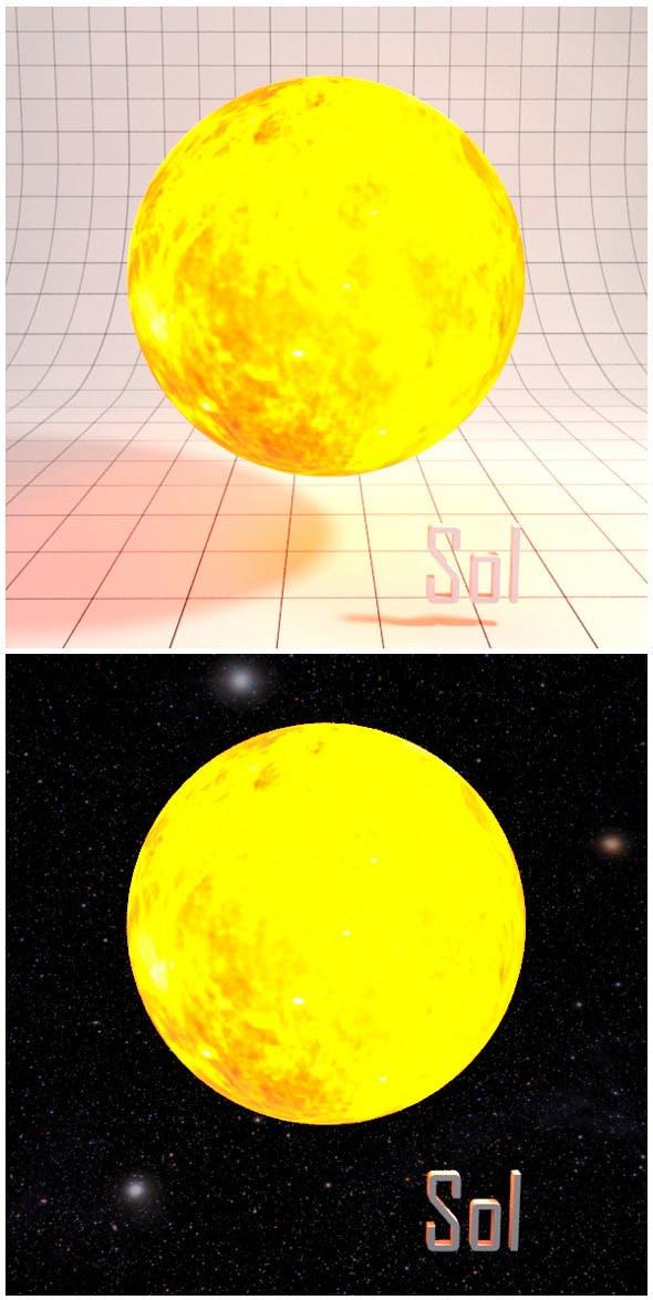 Sun (Sol) - Realistic HD model - 3DOcean Item for Sale