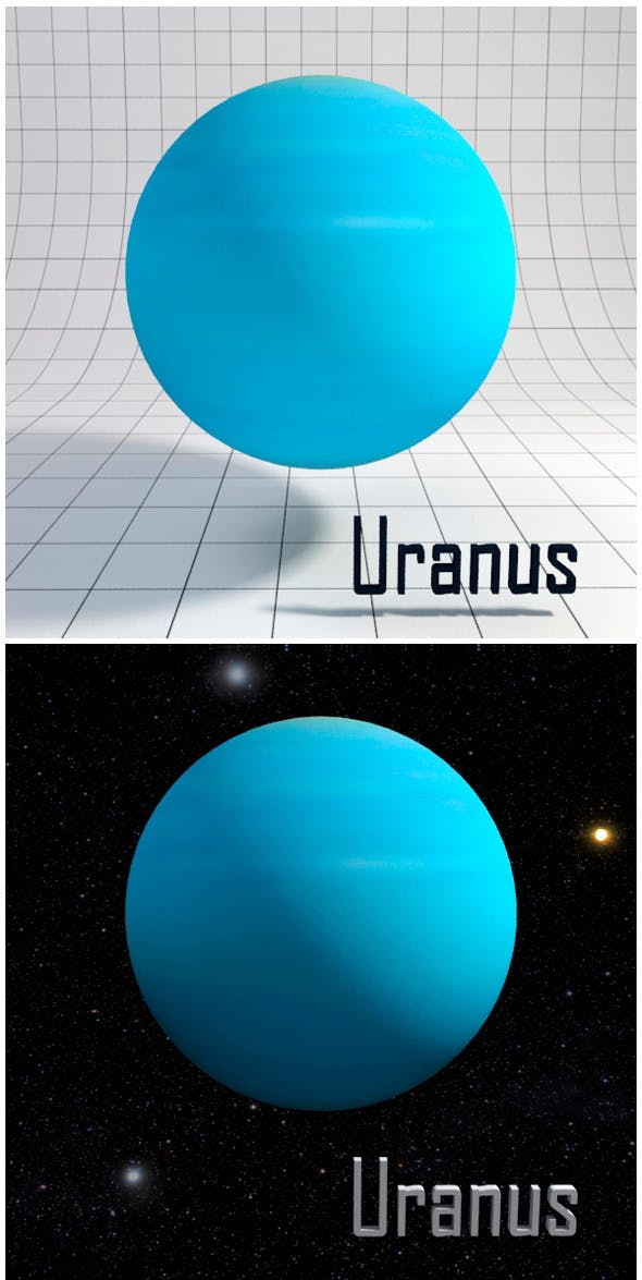 Uranus - Realistic HD model - 3DOcean Item for Sale