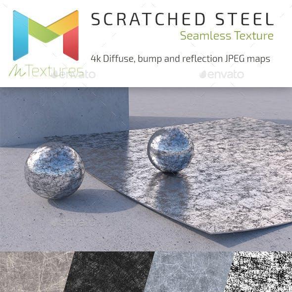Scratched Steel 4k Textures