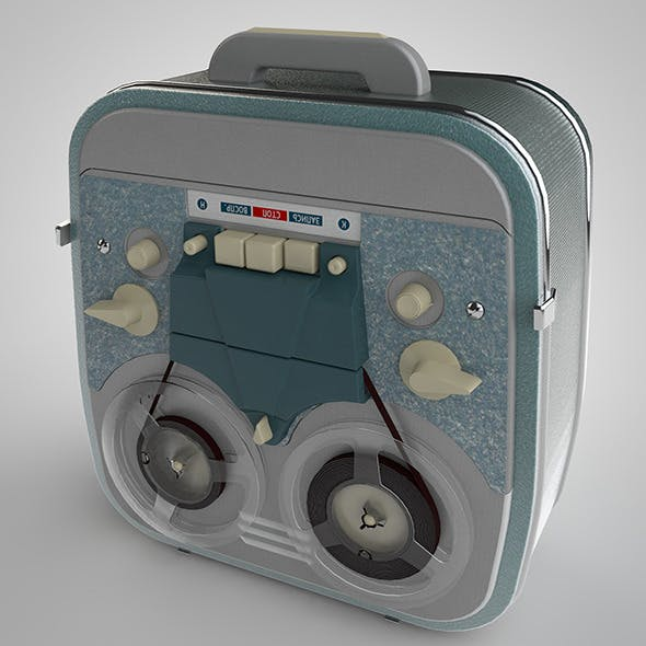 Tape recorder - 3DOcean Item for Sale