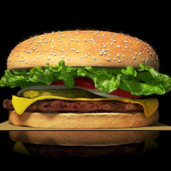 Modeled & Animated burger