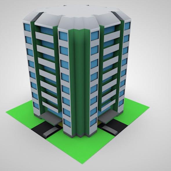 Low Poly 3D Condominium