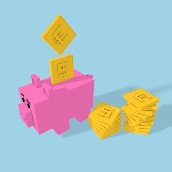 Square Pig Money-box