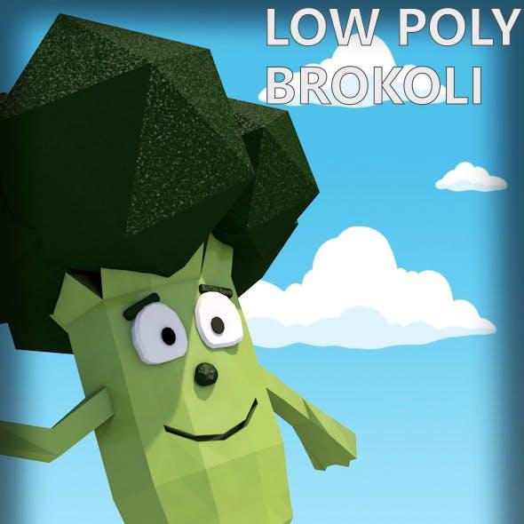 Low poly brokoli character
