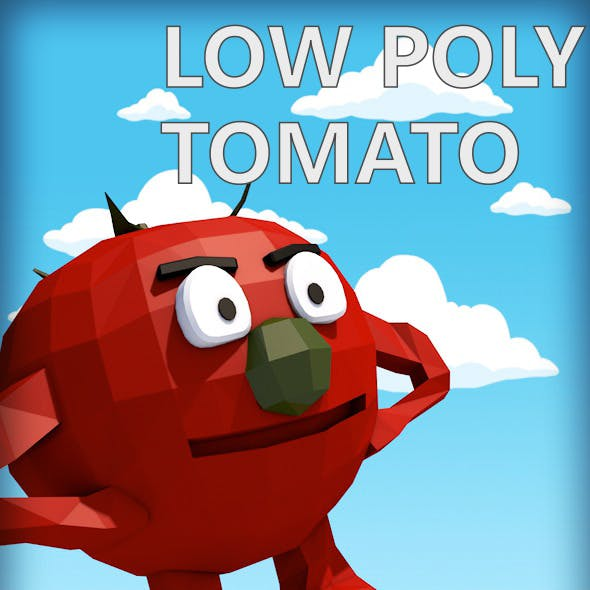 Low poly tomato character