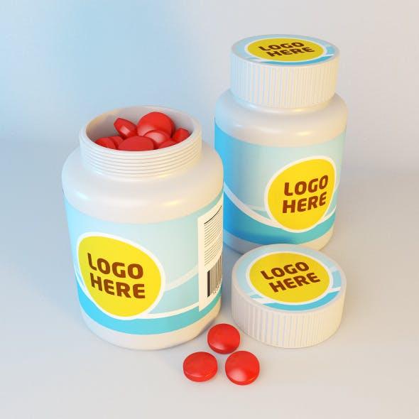 Medicine bottle vray - 3DOcean Item for Sale