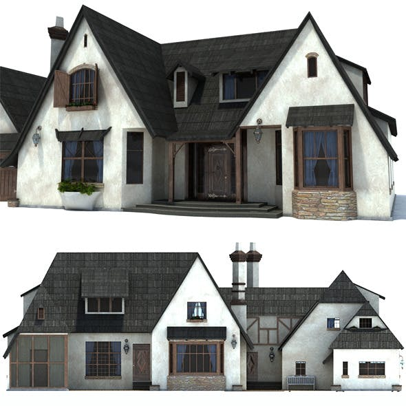 English Family House - 3DOcean Item for Sale
