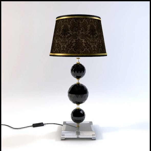 Glass Geosphere Table Lamp #1