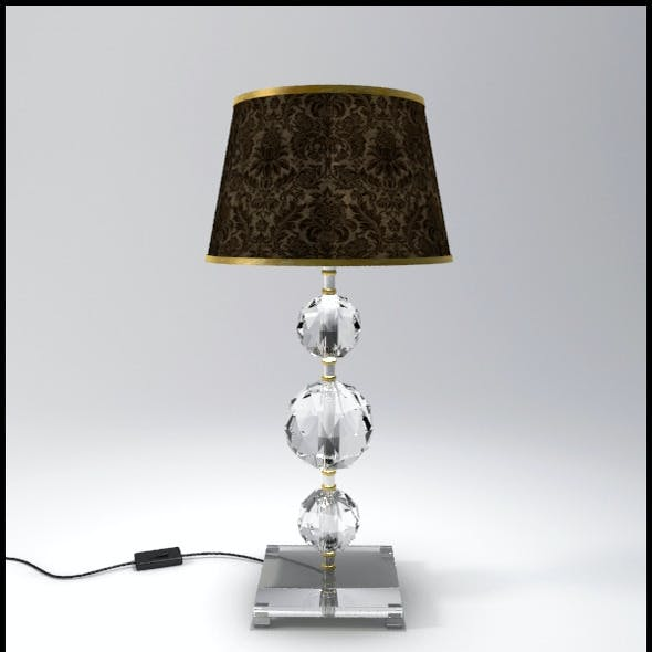Glass Geosphere Table Lamp #4