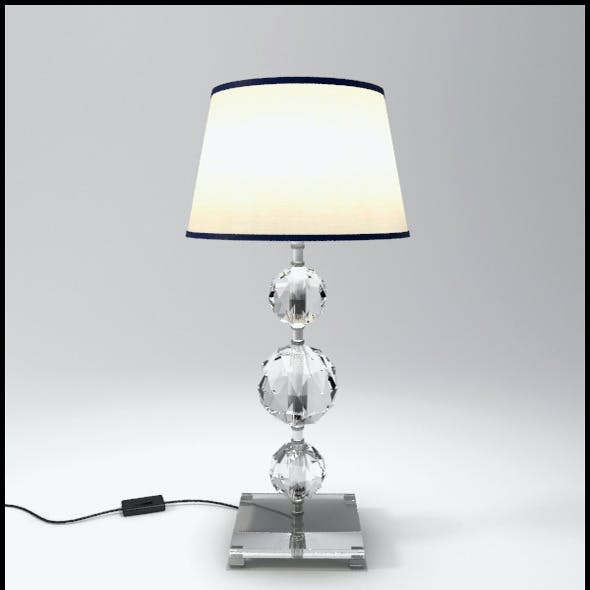 Glass Geosphere Table Lamp #7