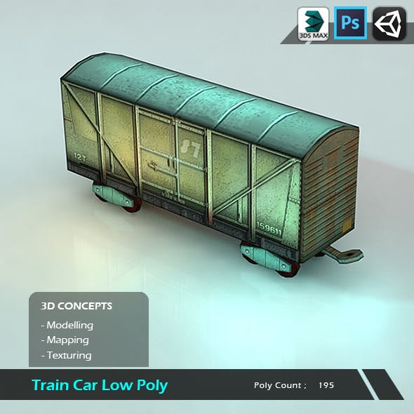 Train Car Low Poly