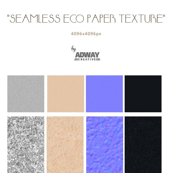 Seamless eco paper / cardboard texture 4096px