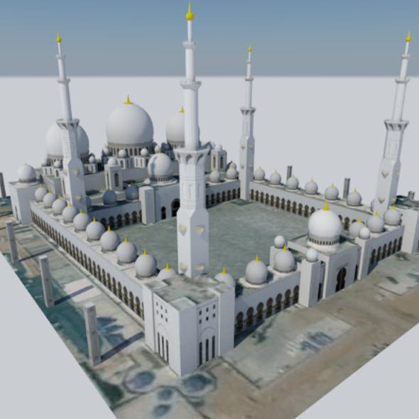 Massive Mosque in Abu Dhabi