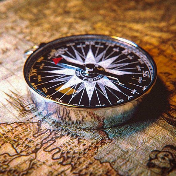 Compass Scene - 3DOcean Item for Sale