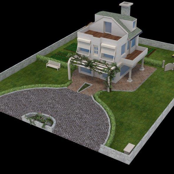 GardenHouse2 - 3DOcean Item for Sale