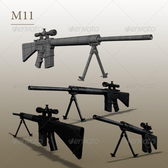 gun m11 - 3DOcean Item for Sale