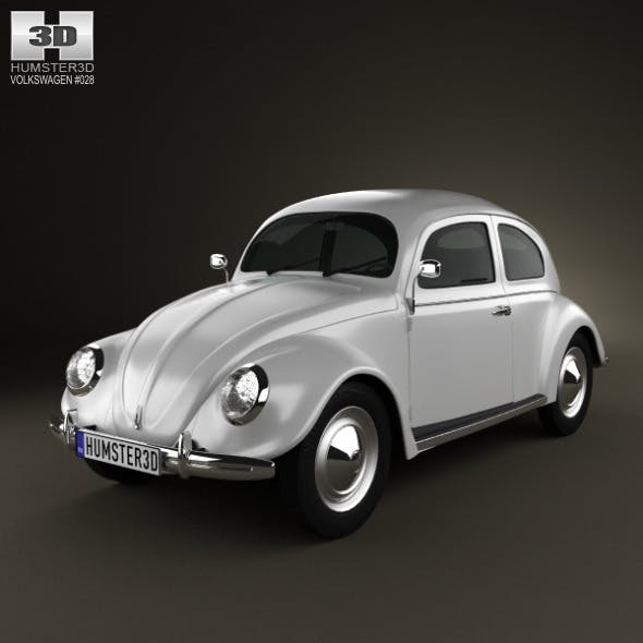 Volkswagen Beetle 1949 - 3DOcean Item for Sale