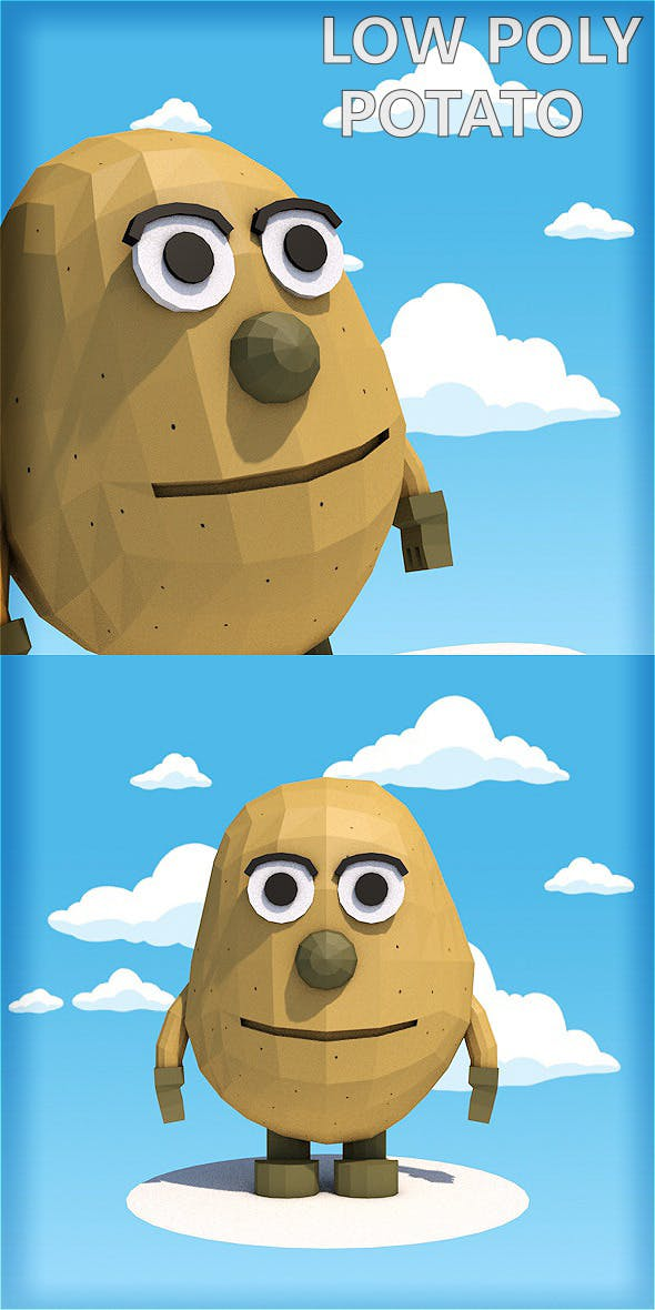 Low poly potato character - 3DOcean Item for Sale