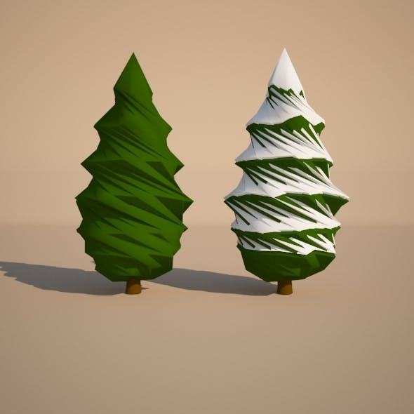 Summer and Winter Trees - 3DOcean Item for Sale