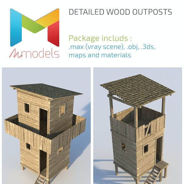 Realistic Wooden Outposts