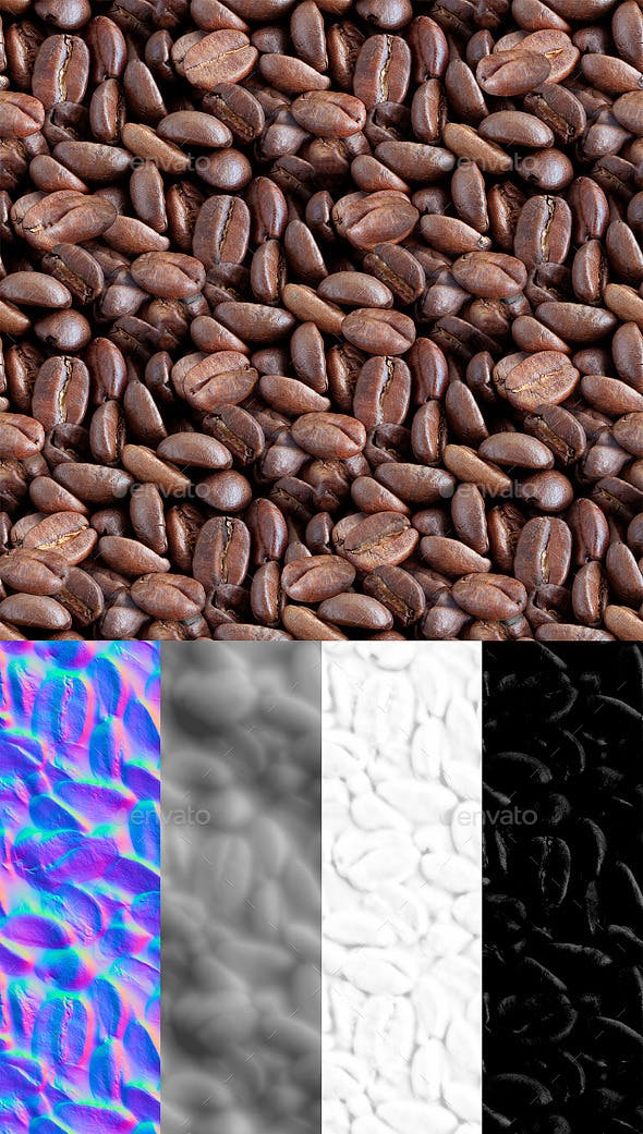 Coffee Beans Tileable Texture - 3DOcean Item for Sale