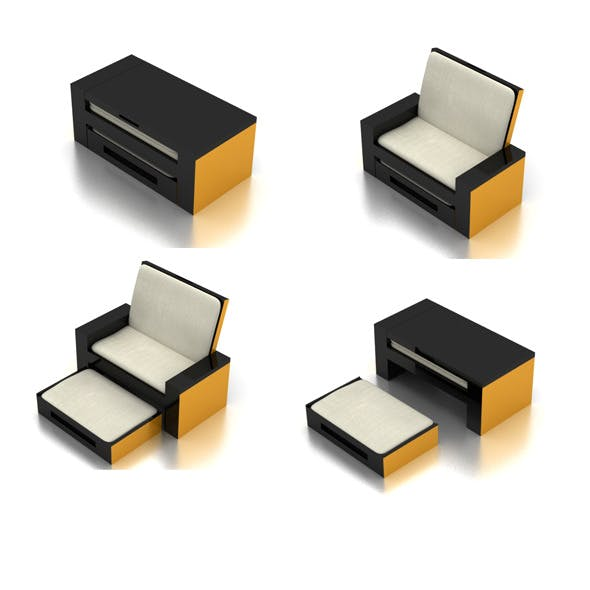 Portable Sofa - 3DOcean Item for Sale