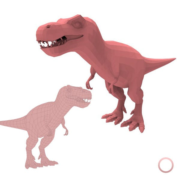 Tyrannosaurus Rex Base Mesh - 3DOcean Item for Sale