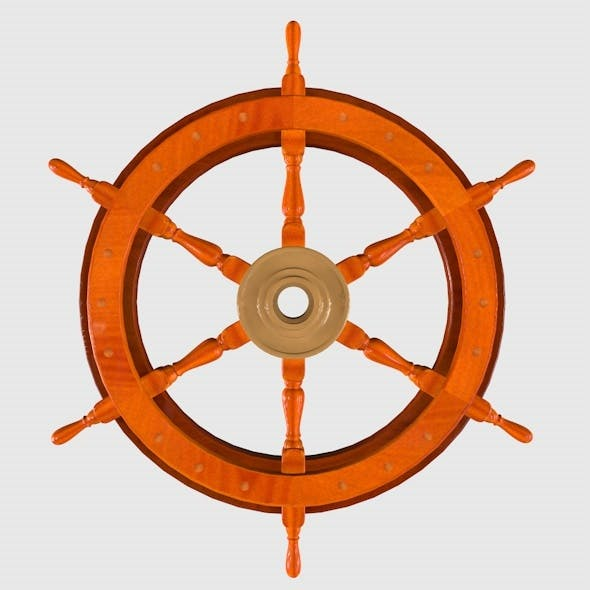 Real Ship Steering Wheel - 3DOcean Item for Sale