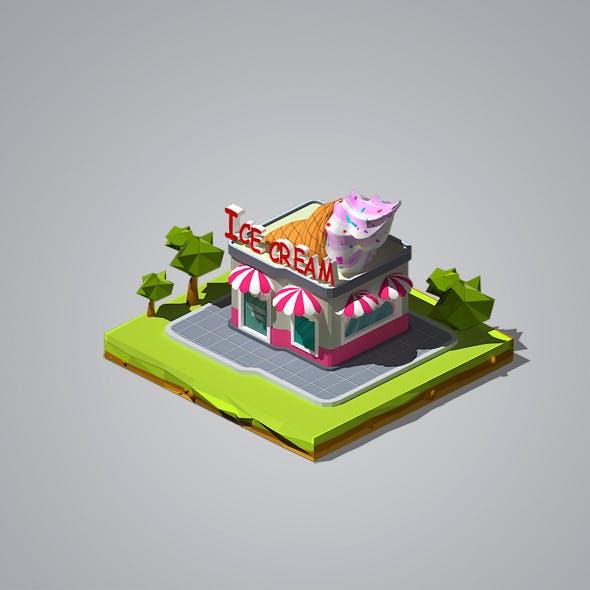 Ice Cream Shop - 3DOcean Item for Sale