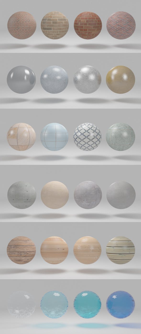 Vray Material Pack with Render Dome Setup - 3DOcean Item for Sale