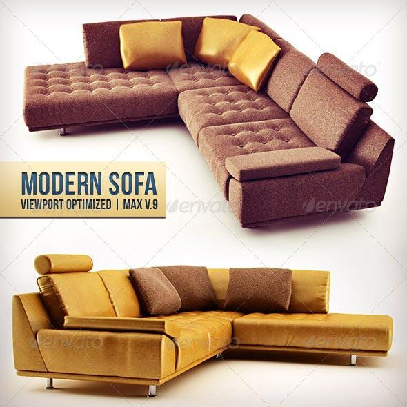 L-Shaped Modern Sofa - 3DOcean Item for Sale