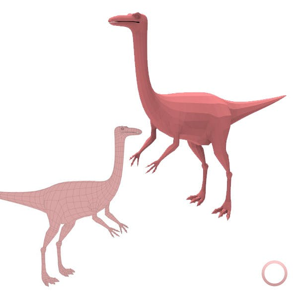 Gallimimus Base Mesh