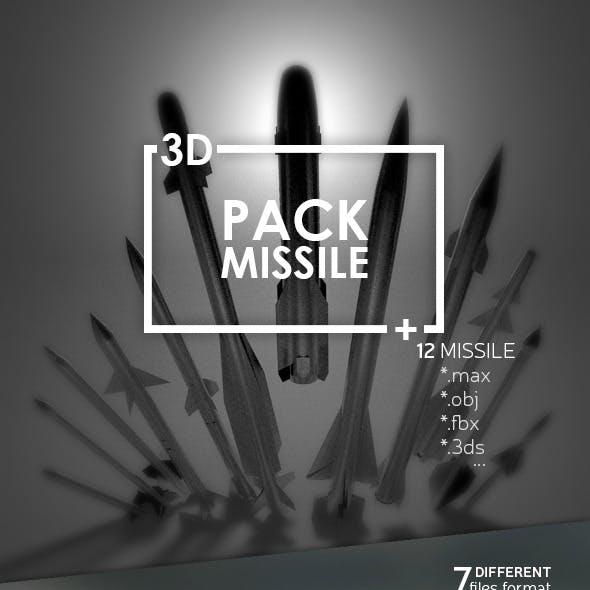Pack Missile 3D Model