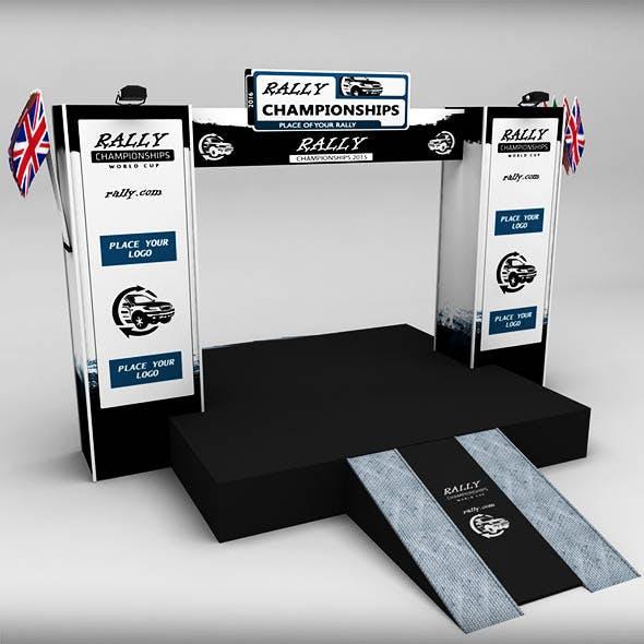 WRC motor sport podium 02 - 3DOcean Item for Sale
