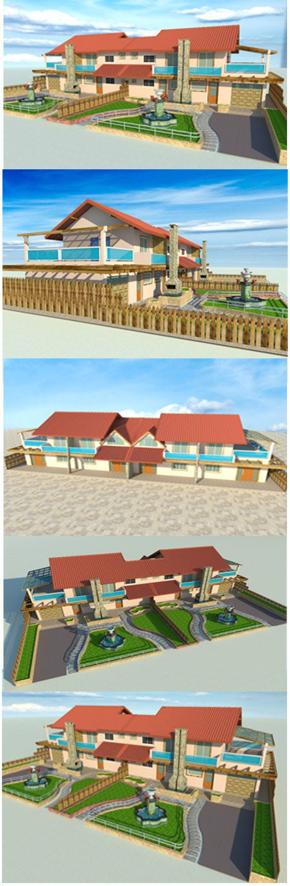 beach and holiday's House - 3DOcean Item for Sale
