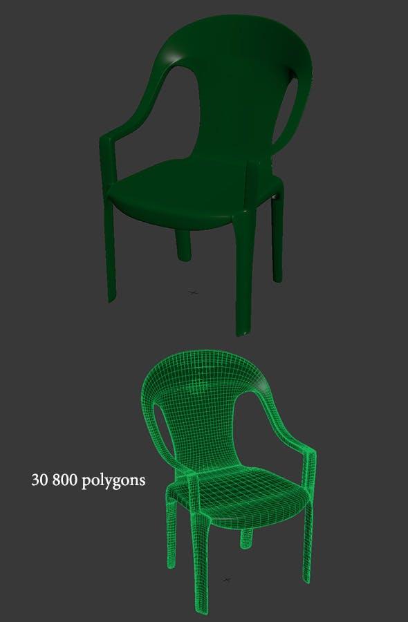Garden chair - plastic - 3DOcean Item for Sale