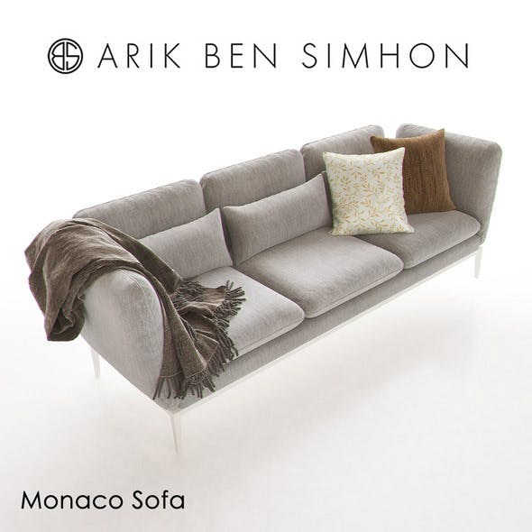 Monaco Sofa by Arik Ben Simhon - 3DOcean Item for Sale