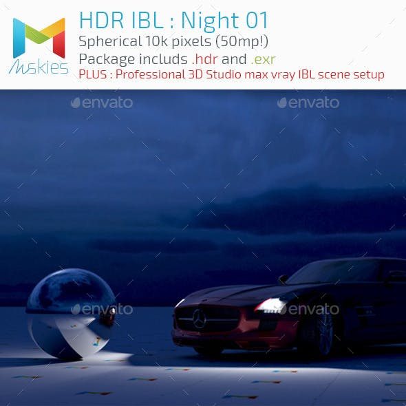 HDR IBL : Moon Night
